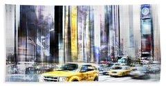 City-art Times Square II Hand Towel by Melanie Viola