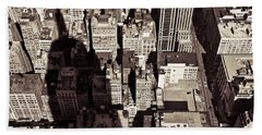 City Shadow Hand Towel by Dave Bowman