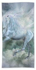 Cloud Dancer Hand Towel by Carol Cavalaris