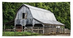 Clubhouse Road Barn Hand Towel by Cricket Hackmann