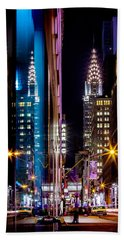 Color Of Manhattan Hand Towel by Az Jackson