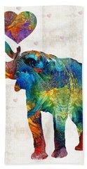 Colorful Elephant Art - Elovephant - By Sharon Cummings Hand Towel by Sharon Cummings