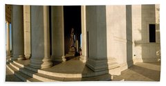 Columns Of A Memorial, Jefferson Hand Towel by Panoramic Images