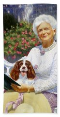 Companions In The Garden Hand Towel by Candace Lovely