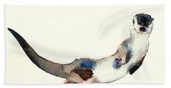 Curious Otter Hand Towel by Mark Adlington