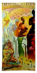 Dali Oil Painting Reproduction - The Hallucinogenic Toreador Hand Towel by Mona Edulesco