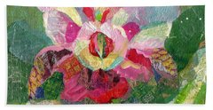 Dancing Orchid II Hand Towel by Shadia Derbyshire