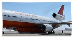 Hand Towel featuring the photograph Dc-10 Air Tanker At Rapid City by Bill Gabbert