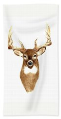 Deer - Front View Hand Towel by Michael Vigliotti