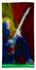Def Leppard-adrenalize-ga5-vivian-fractal Hand Towel by Gary Gingrich Galleries