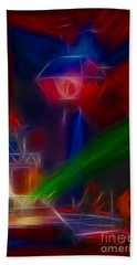 Def Leppard-adrenalize-gf12-fractal Hand Towel by Gary Gingrich Galleries