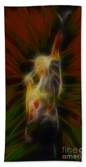 Def Leppard-adrenalize-joe-gb22-fractal Hand Towel by Gary Gingrich Galleries