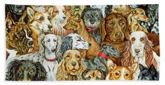 Dog Spread Hand Towel by Ditz