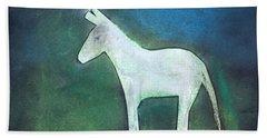 Donkey, 2011 Oil On Canvas Hand Towel by Roya Salari