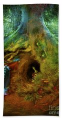 Down The Rabbit Hole Hand Towel by Aimee Stewart