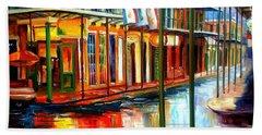 Downpour On Bourbon Street Hand Towel by Diane Millsap