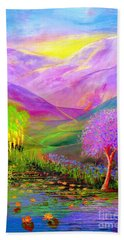 Dream Lake Hand Towel by Jane Small