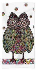 Dream Owl Hand Towel by Susan Claire