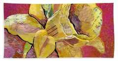 Early Spring I Daffodil Series Hand Towel by Shadia Derbyshire