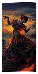 Elements - Fire Hand Towel by Cassiopeia Art