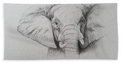 Elephant Hand Towel by Ele Grafton
