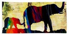 Elephant Walk Hand Towel by Marvin Blaine