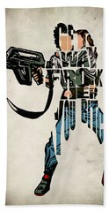 Ellen Ripley From Alien Hand Towel by Ayse Deniz