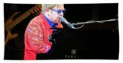 Elton John Live Hand Towel by Aaron Martens