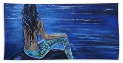 Enchanting Mermaid Hand Towel by Leslie Allen