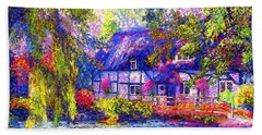 English Cottage Hand Towel by Jane Small