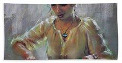 Erbora With Watermelon Hand Towel by Ylli Haruni