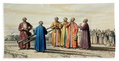 Evening Prayer Among The Kalmuks, Using Hand Towel by Francois Fortune Antoine Ferogio