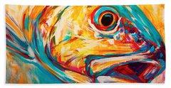 Expressionist Redfish Hand Towel by Savlen Art