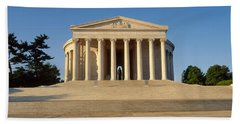 Facade Of A Memorial, Jefferson Hand Towel by Panoramic Images