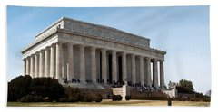 Facade Of The Lincoln Memorial, The Hand Towel by Panoramic Images