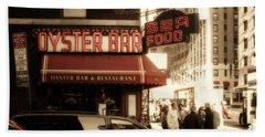 Famous Oyster Bar Hand Towel by Jon Woodhams