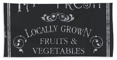 Farm Fresh Sign Hand Towel by Debbie DeWitt