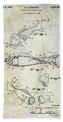 Fishing Lure Patent 1959 Hand Towel by Jon Neidert