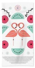 Flamingo Flutter Hand Towel by Susan Claire
