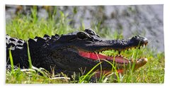Gator Grin Hand Towel by Al Powell Photography USA