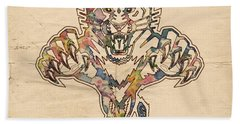 Florida Panthers Hockey Poster Hand Towel by Florian Rodarte