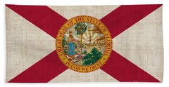 Florida State Flag Hand Towel by Pixel Chimp