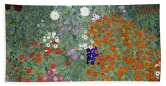 Flower Garden Hand Towel by Gustav Klimt