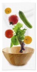 Flying Salad Hand Towel by Elena Elisseeva