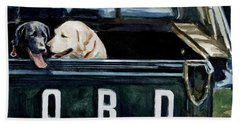 For Our Retriever Dogs Hand Towel by Molly Poole