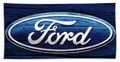 Ford Barn Door Hand Towel by Dan Sproul