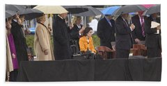 Former Us President Bill Clinton Hand Towel by Panoramic Images