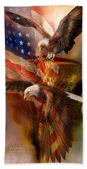 Freedom Ridge Hand Towel by Carol Cavalaris