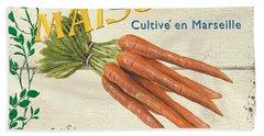 French Veggie Sign 2 Hand Towel by Debbie DeWitt