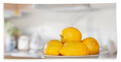 Freshly Picked Lemons Hand Towel by Amanda Elwell